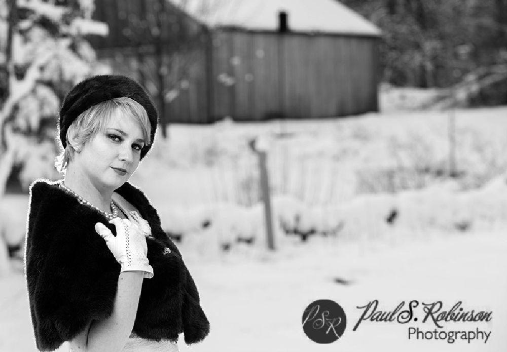 Photo in Fashion #pinup #snow #photo shoot #winter