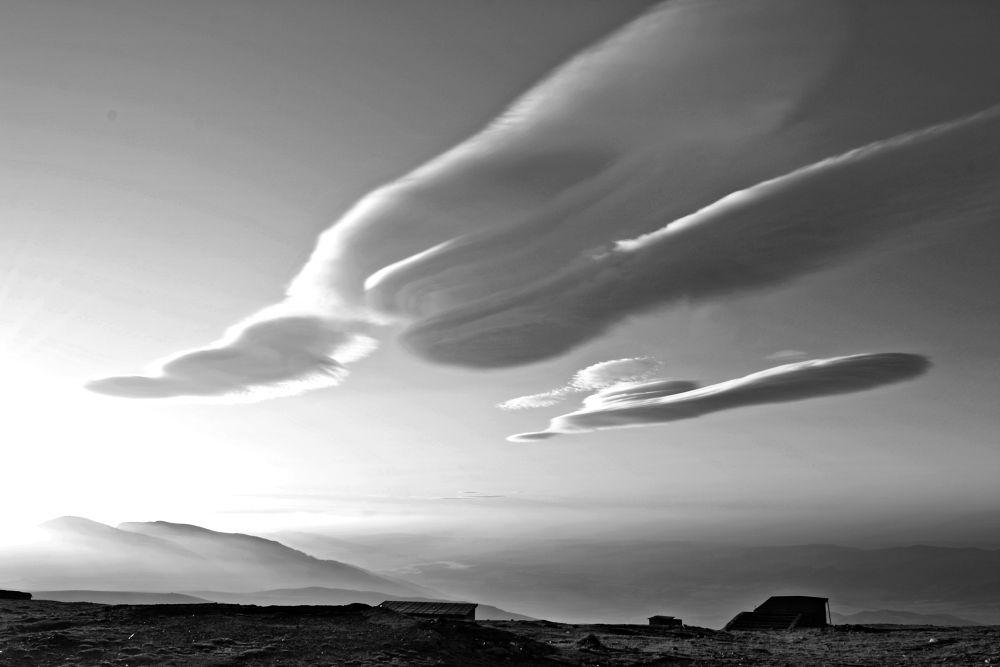 Photo in Random #white #mountain #black #clouds