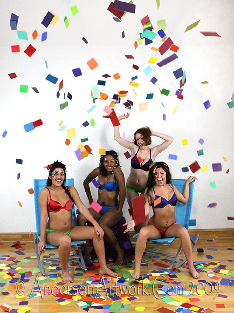 Photo in People #colors #diversity #racism #anti-racism #skin tones #spectrum #anderson artwork #r scott anderson #anderonartwork.com #scott anderson #females #girls #lingerie #swimsuits #laughter #fun #fineart #fine art