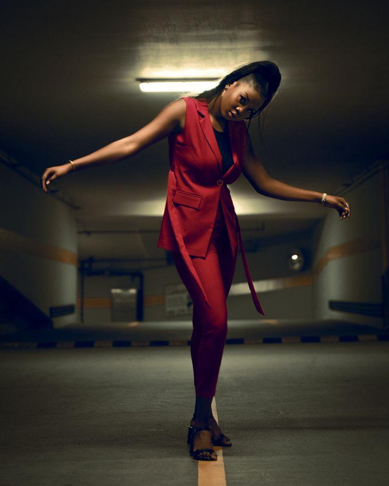 Photo in Random #parking #lady #woman #african #dubai #model