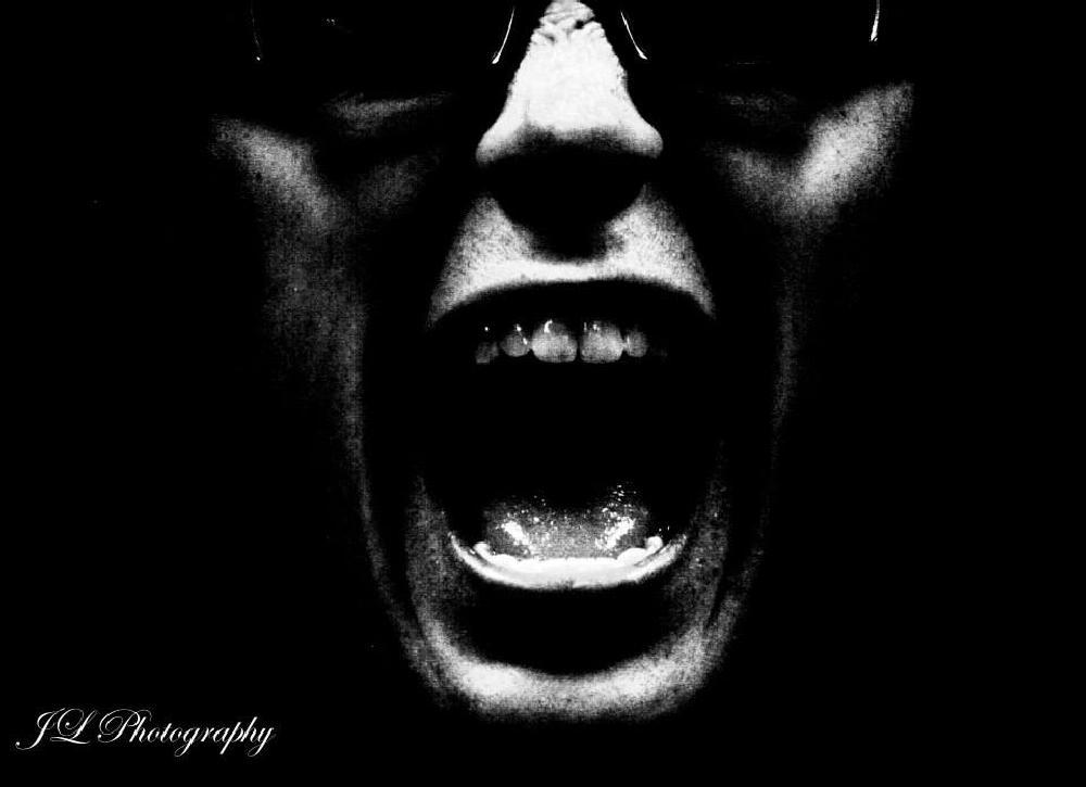 Photo in Black and White #halloween #creepy #scream #black and white