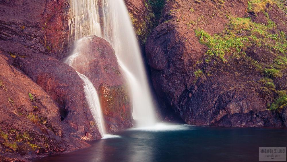 Photo in Random #waterfall #water #fall #spring #rock #warm #pool #lake #still #sun #sunset #sunrise #moss #grass #green #wet #romantic #summer #beautiful #soft #rest #peaceful #calm