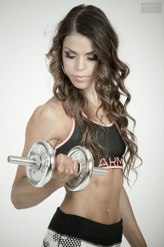 Photo in Sports #model #fitness #woman #hot #lift #weight #train #fit #burnette #long #hair #dark #beautiful