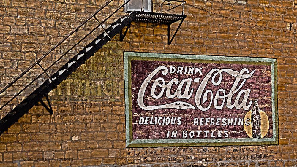 Photo in HDRI #coca-cola #coke #cola #cocacola #sign #handpainted #limestone #stairs #hdr
