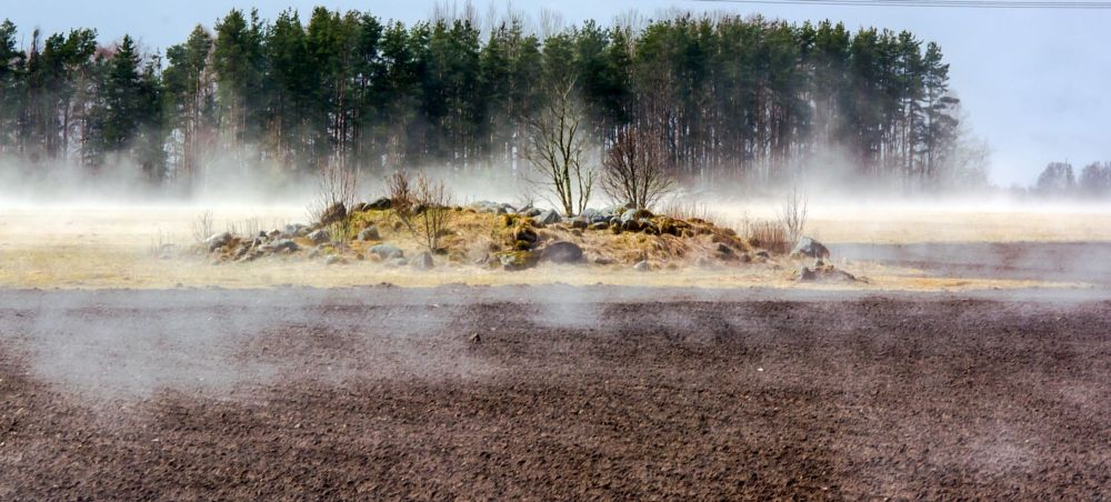 Photo in Landscape #steam #field #trees #nature #landscape #view #wheater #spring