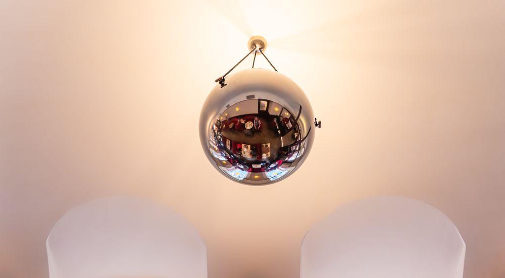 Photo in Interior #selfie #style #ball #metal #mirroring