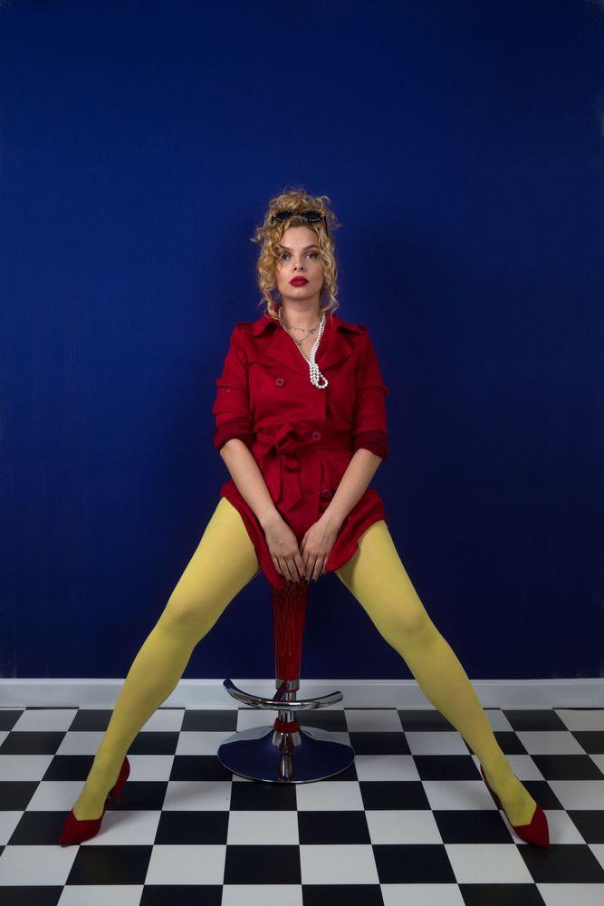 Photo in Fashion #fashion #model #studio #colors #red #yellow #long legs