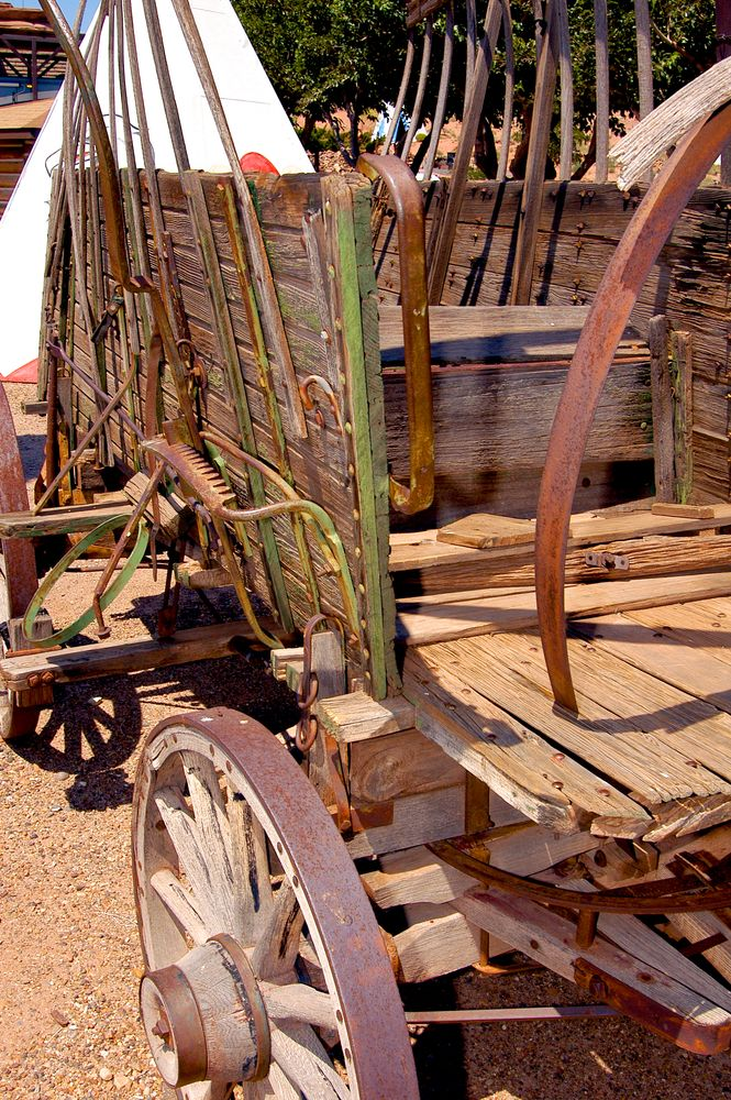 Photo in Vintage #wagon #wood #tepee #indian #new mexico