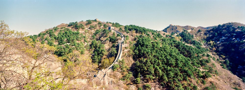 Photo in Landscape #great wall #mutianyu #panorama #landscape #xpan #film