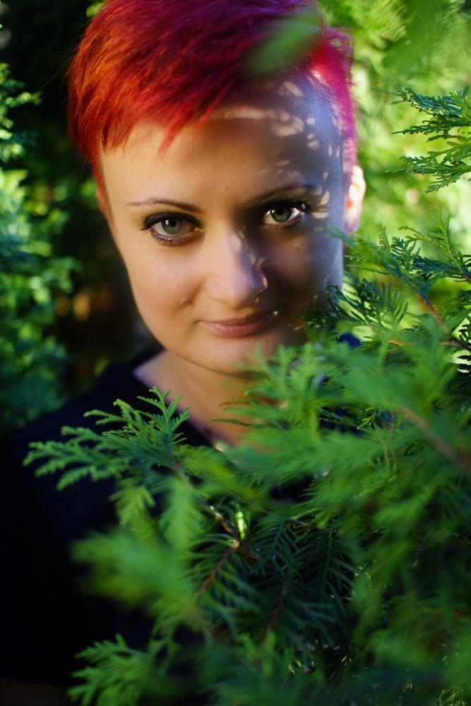Photo in People #redhead #green #girl