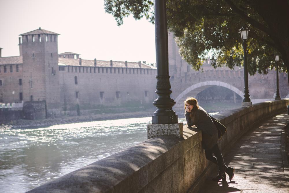 Photo in People #verona #italy #castelvecchio #bridge #ponte #castello #castle