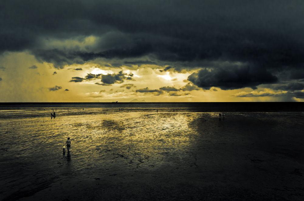Photo in Landscape #beach #sunset