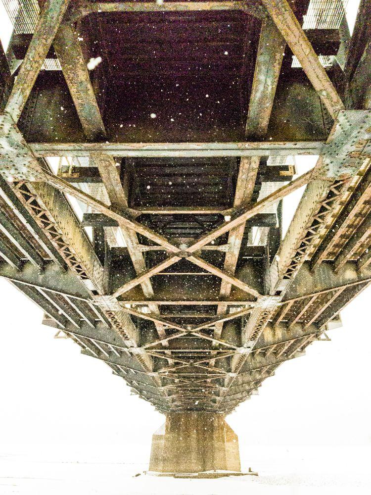 Photo in Architecture #bridges #winter #whiteout