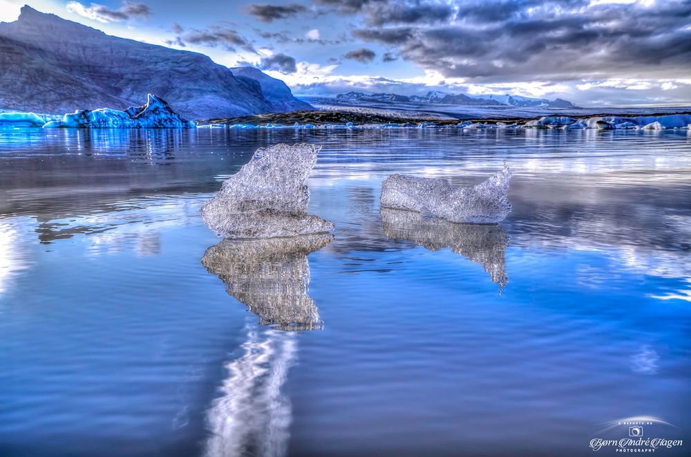 Photo in Landscape #ice #water #sky #clouds #watercold #glacier