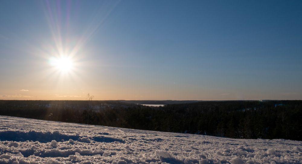 Photo in Landscape #sun #sunshine #snow #winter #sky #blue