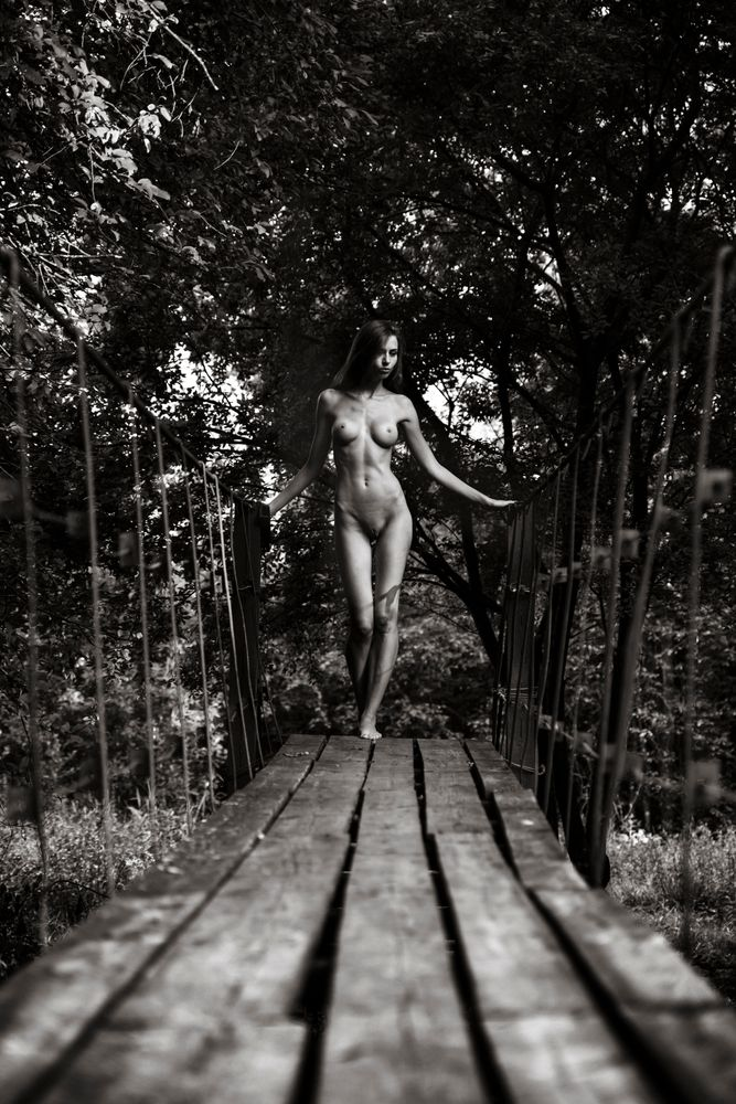 Photo in Nude #photography #model #fine art nude #women #girl #naked #nude #beauty #bridge #aurimas valevicius