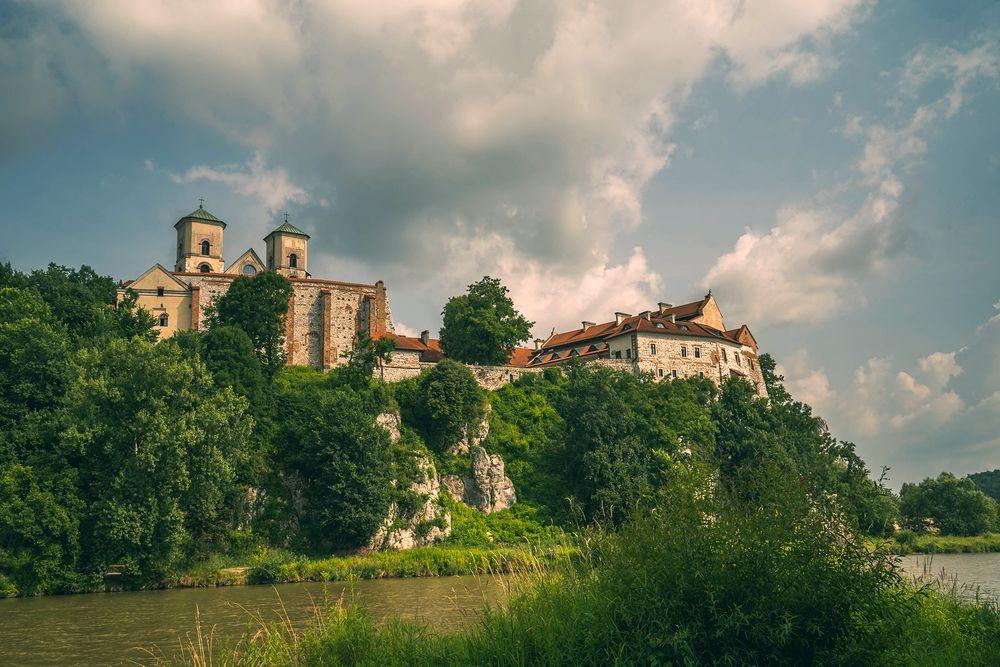 Photo in Landscape #abbey #architecture #landscape #clouds #poland