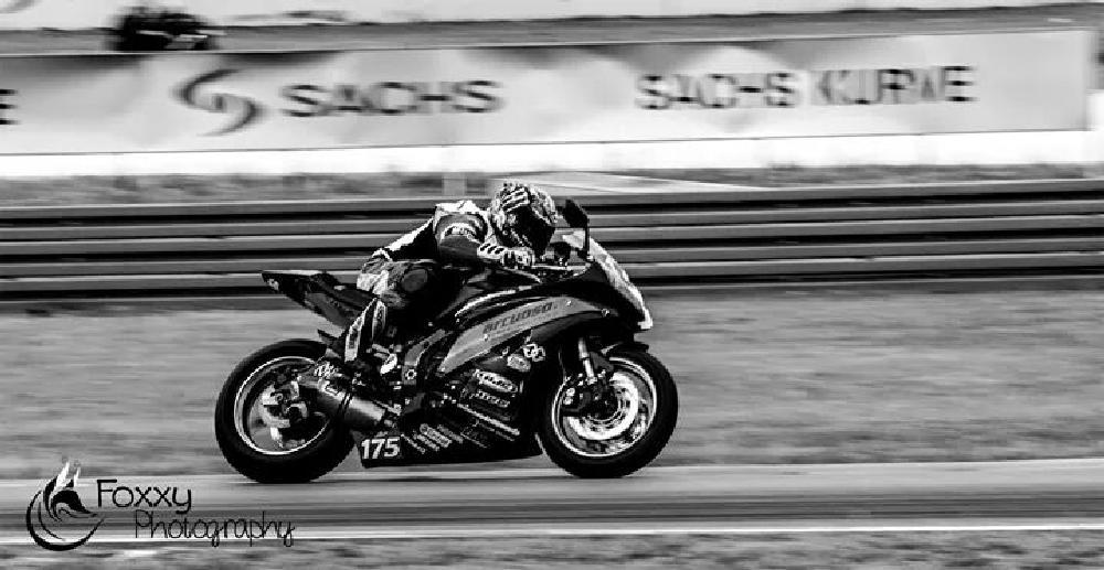 Photo in Sports #motorbike #racetrack #fast #black #white #motorcycle #racing #speedbike #training #race