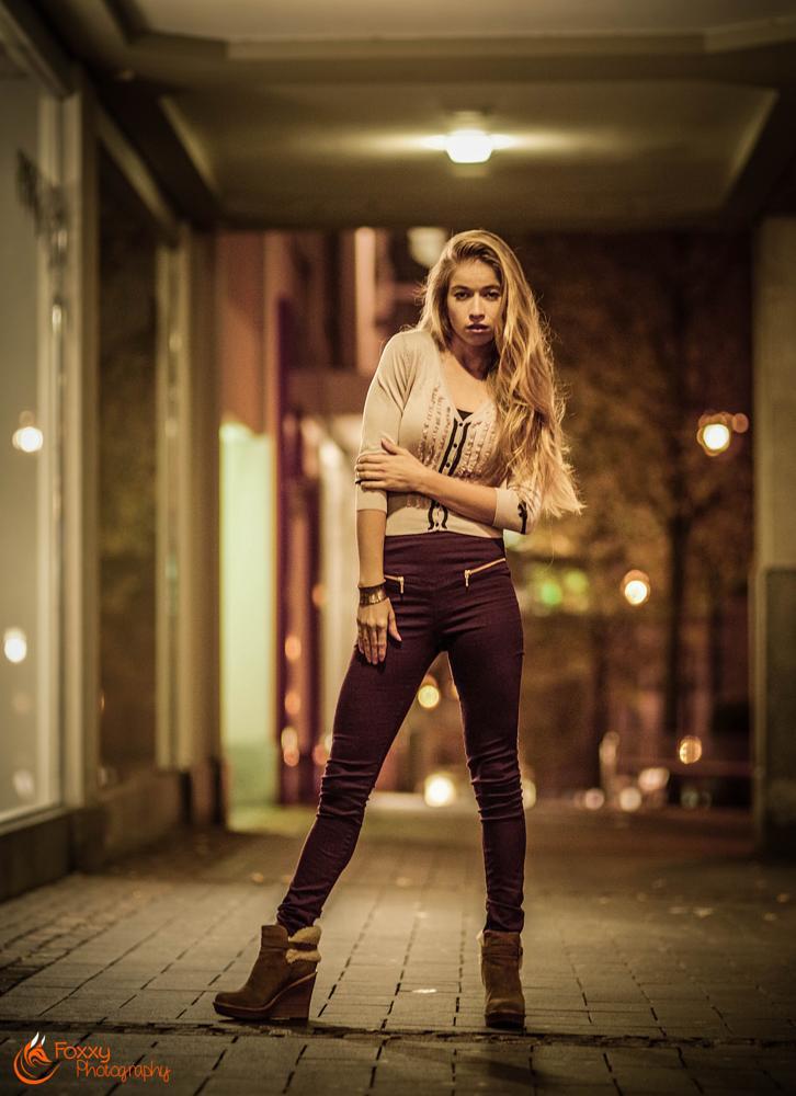 Photo in Fashion #night #shopping #window #light #lights #yellow #girl #woman #fashion #nightlife