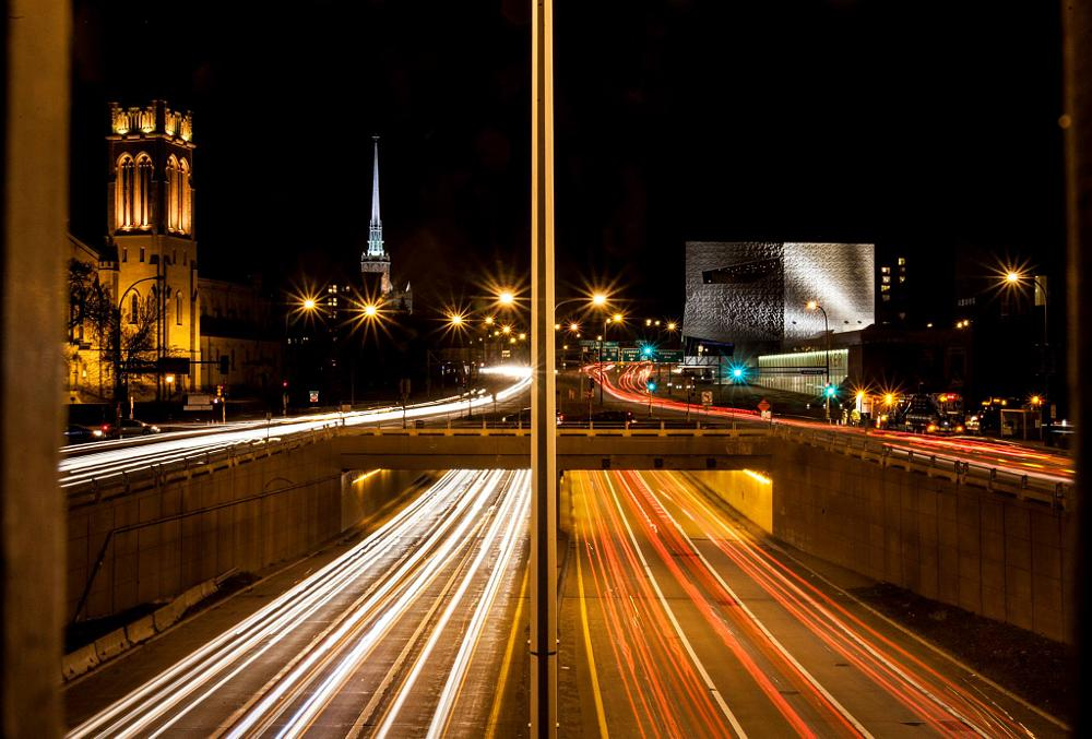 Photo in Cityscape #minneapolis #dreamfirstborn images #long exposure #night shot #freeway #beautiful #cityscape