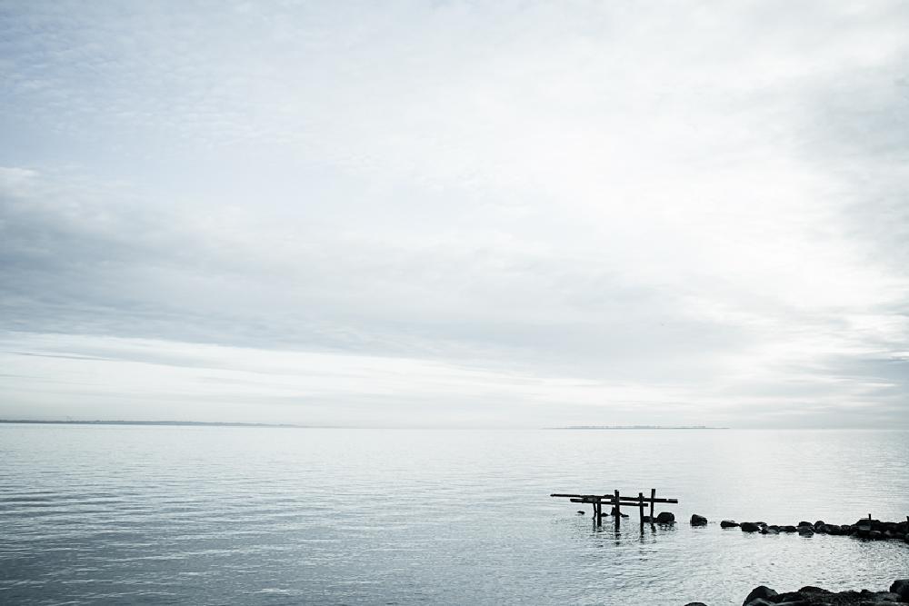 Photo in Landscape #blue #ocean #sea #denmark #danmark #horizon #sky #clouds #cover #water