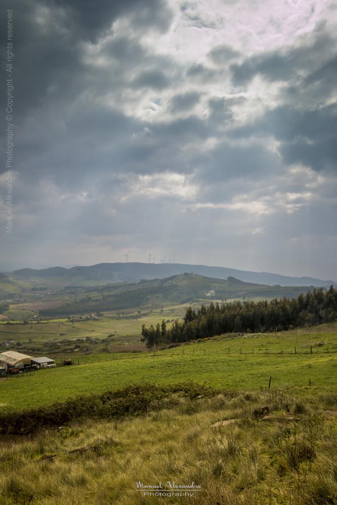 Photo in Landscape #landscape #sky #clouds #hill #light #colors #nature #trees #fields