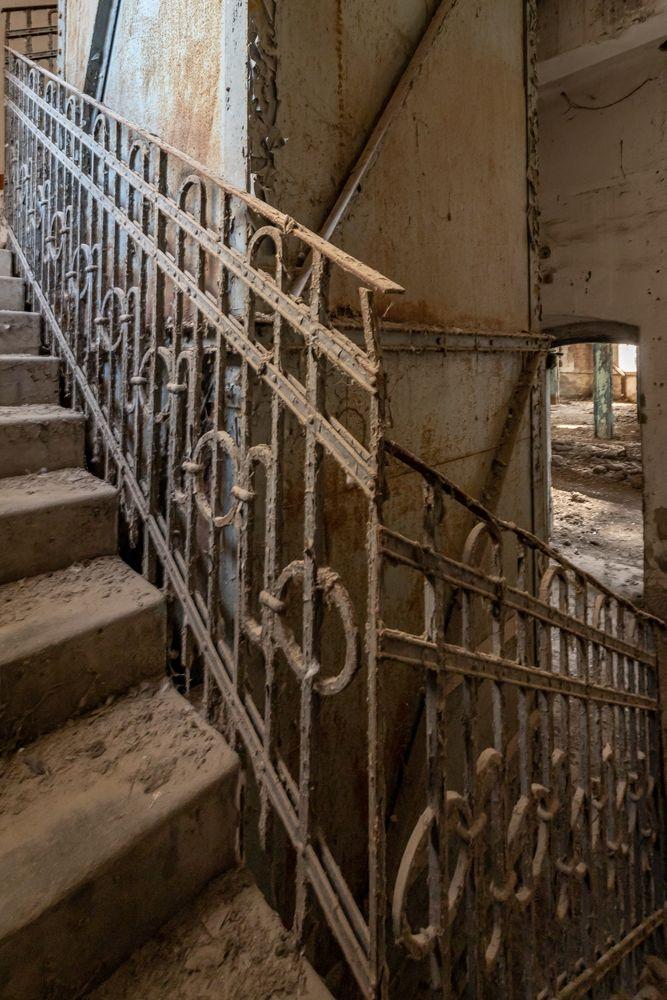 Photo in Random #urbex #abandoned #handrail #stairs