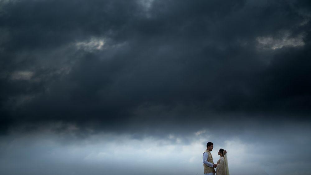 Photo in Wedding #cloud #couple #wedding #sky #dark #love #rain