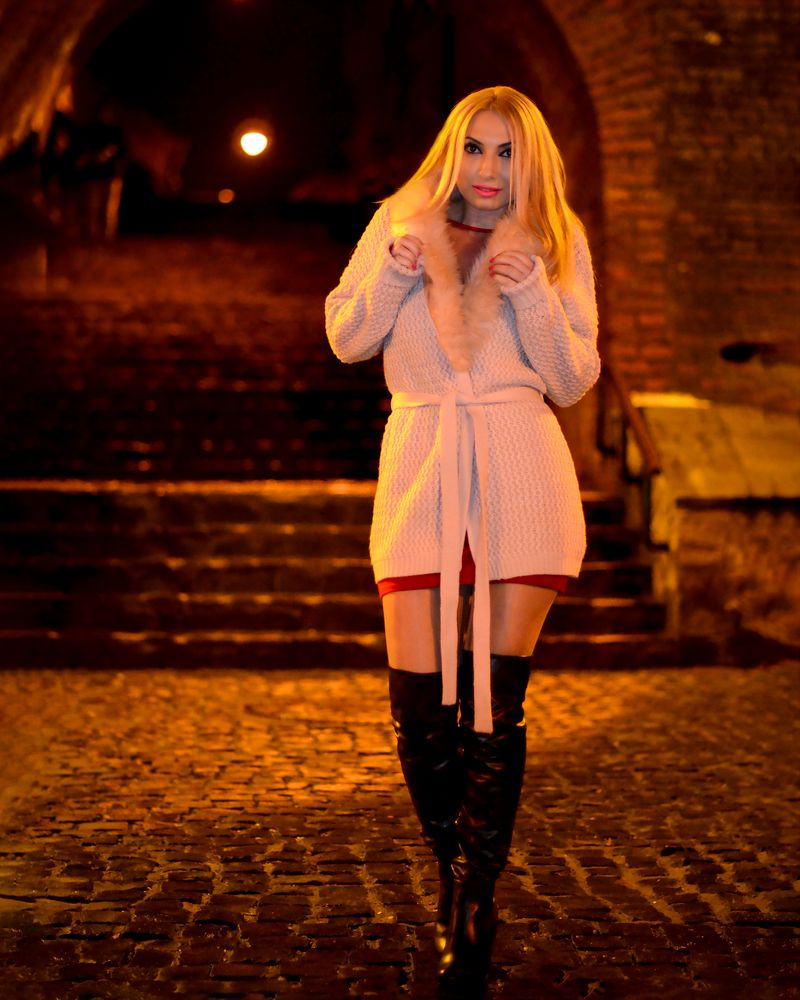Photo in Fashion #clothing #fashion #modelling #night #old city