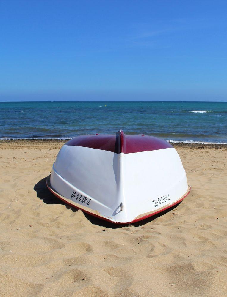 Photo in Fine Art #playa #boat #beach #la mata #torrevieja #spain #middelhavet
