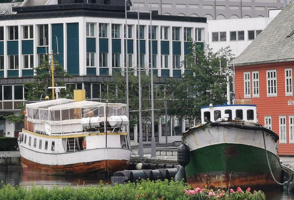 Photo in Vintage #odda #harbor #boats #city of trolltunga #sørfjorden #ullensvang #hardanger #norway