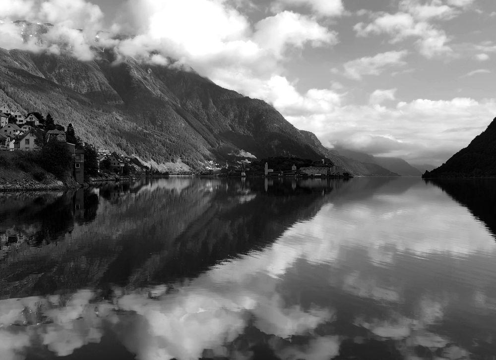 Photo in Black and White #sørfjorden #ullensvang #hardanger #norway