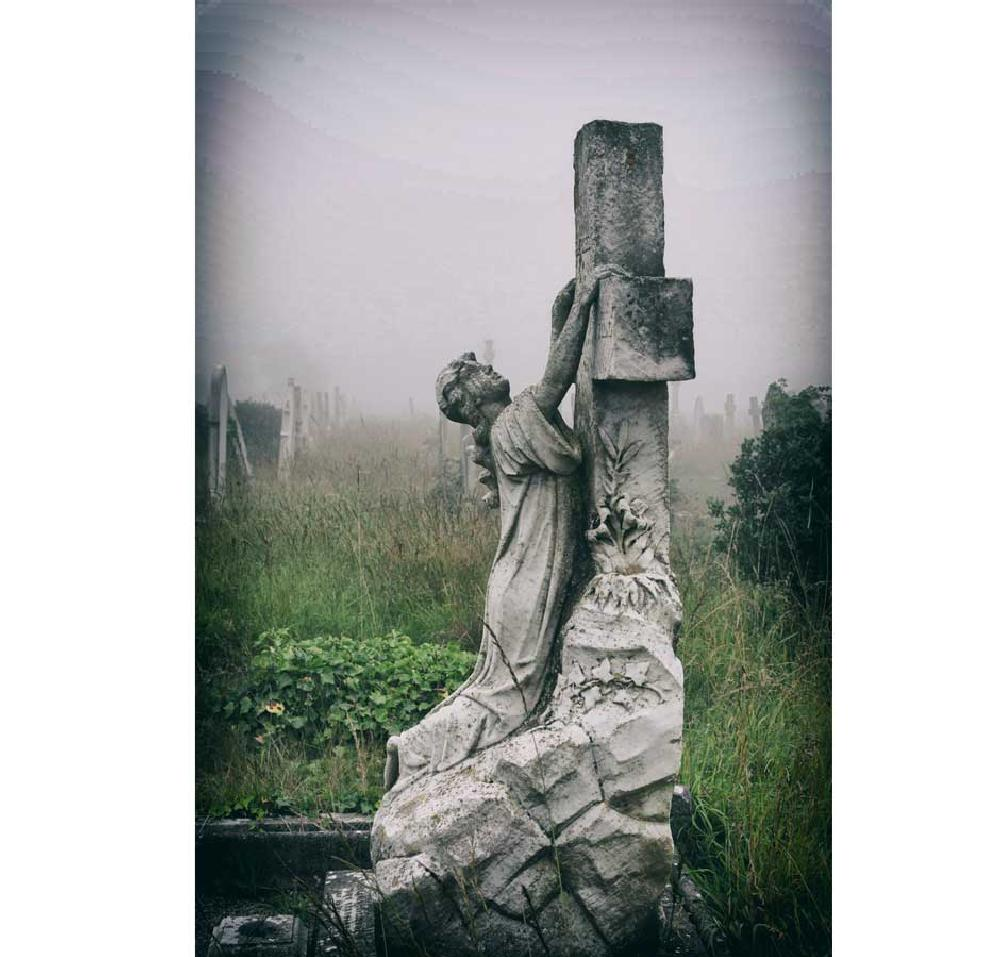 Photo in Random #statue #grave #portland #cemetery #graveyard #cross
