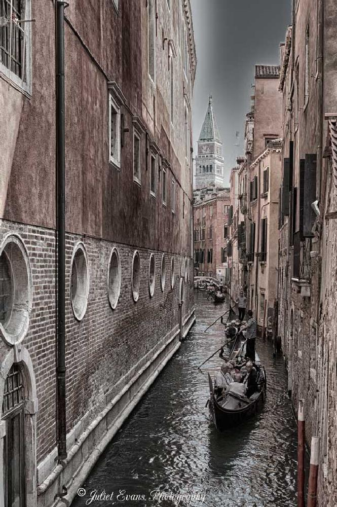 Photo in Travel #gondola #venice #italy #boat #water #canal #colorcast