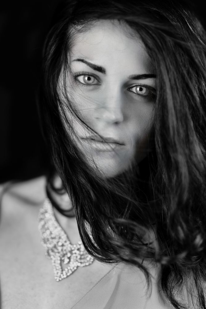 Photo in Black and White #body #model #monochrome #people #portrait #eyes