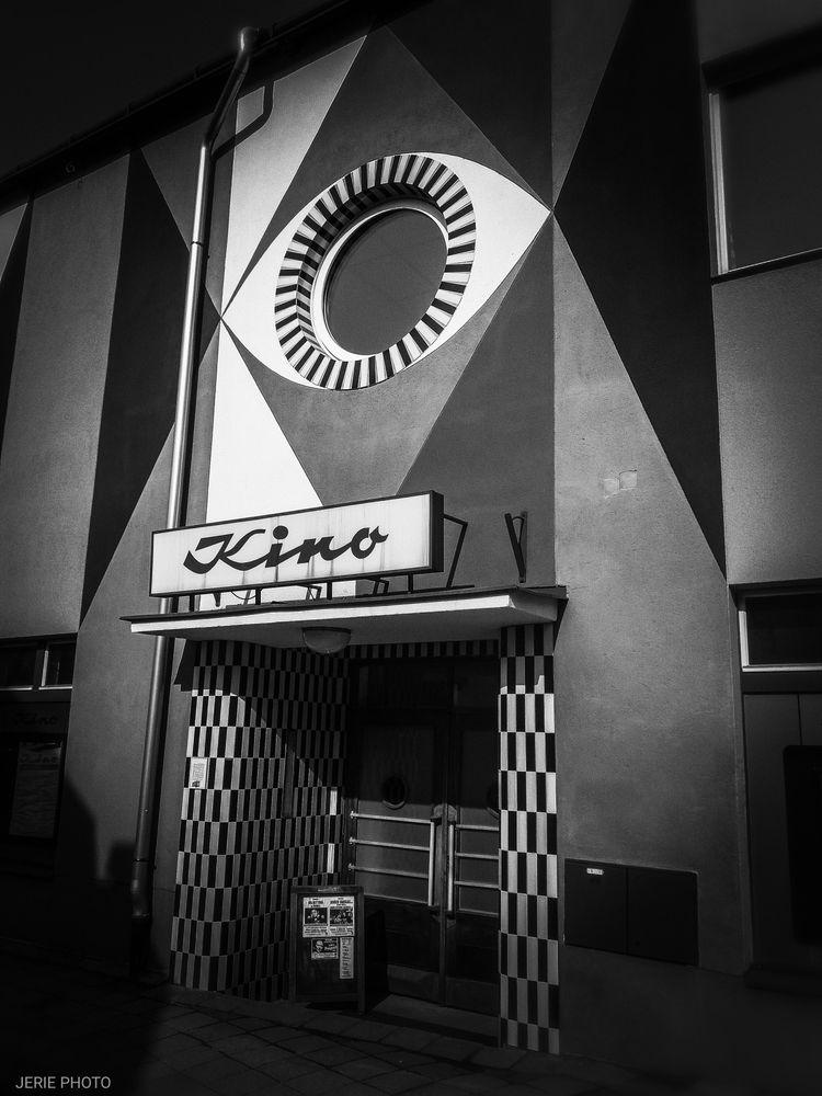 Photo in Black and White #cinema #movie house #nová paka #architecture #building #random #blackandwhite