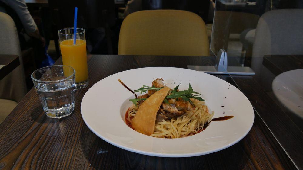 Photo in Food #chicken steak #chicken meat #pasta dish #pasta