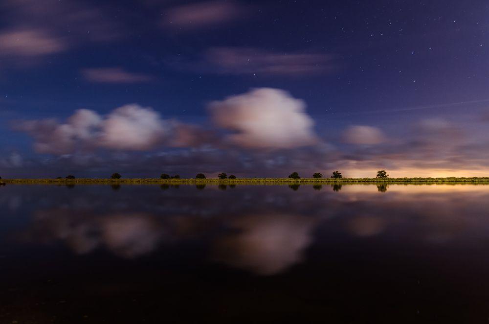 Photo in Fine Art #river #night #full moon #lisboa #portugal