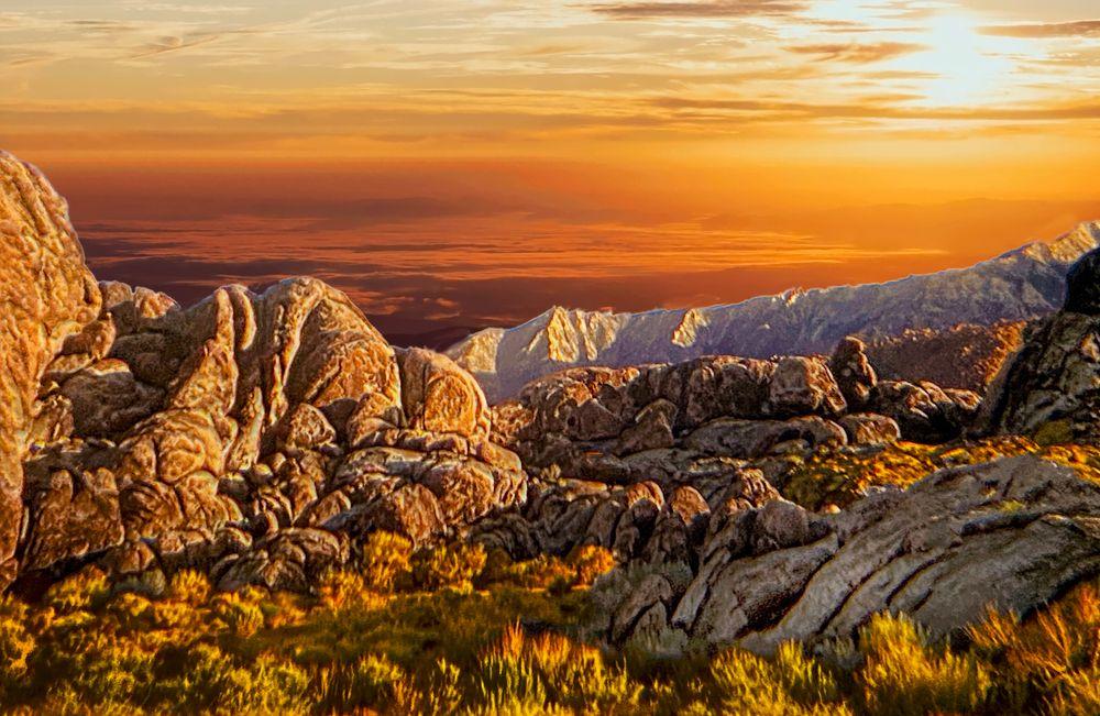 Photo in Landscape #alabama hills #owens valley #lone pine #california #usa #dawn #sun rise #nature #landscape