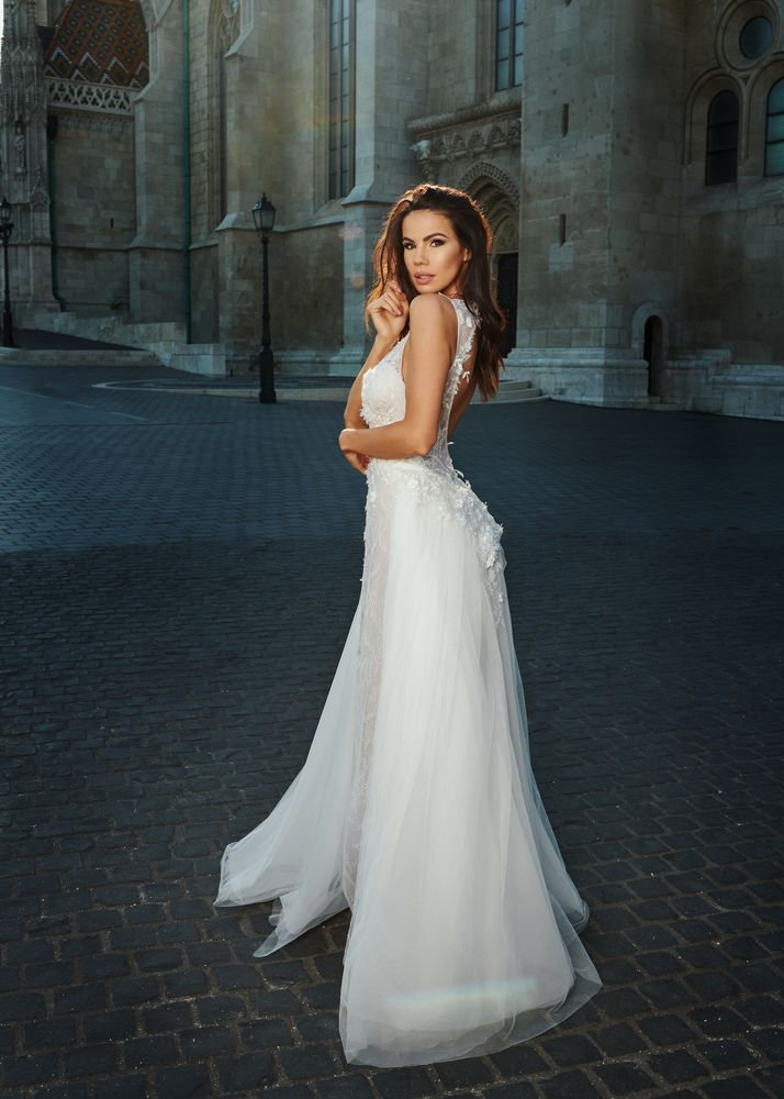 Photo in Fashion #bride #bridal #fashion #brunette #hungarian girl #beauty #beautiful #princess #fairytale