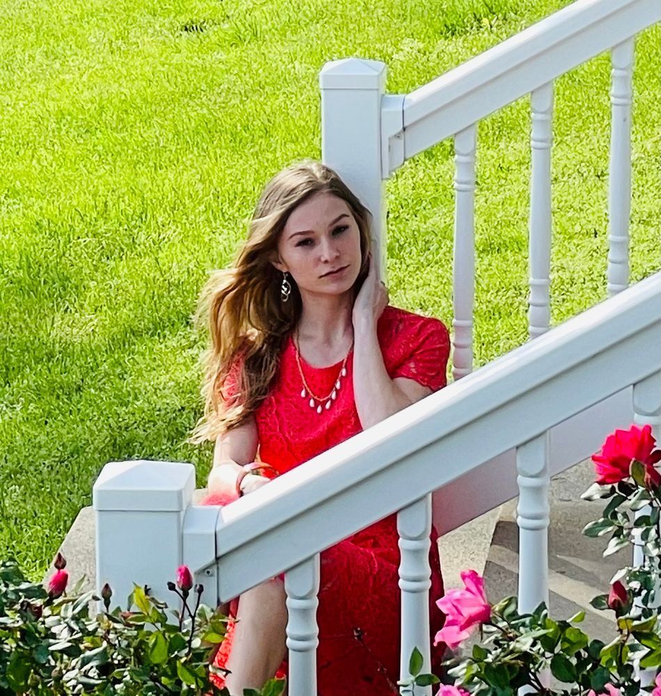Photo in People #girl roses  railing