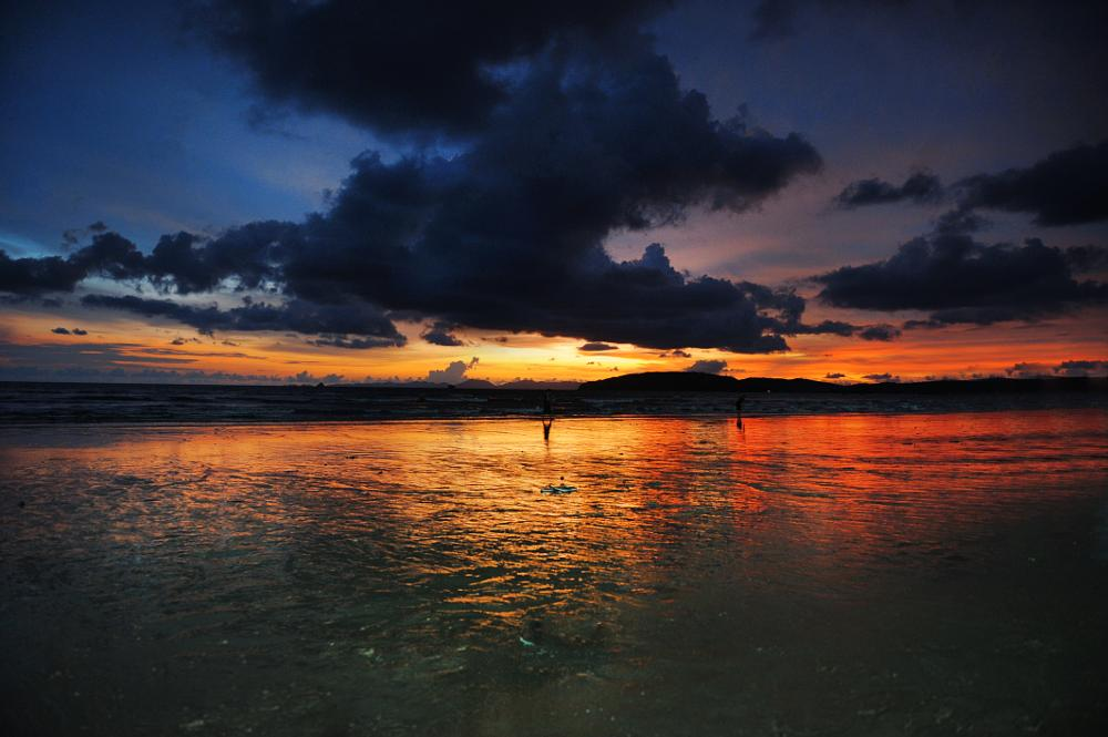 Photo in Nature #sunset #bluehour #sea&sand #beach