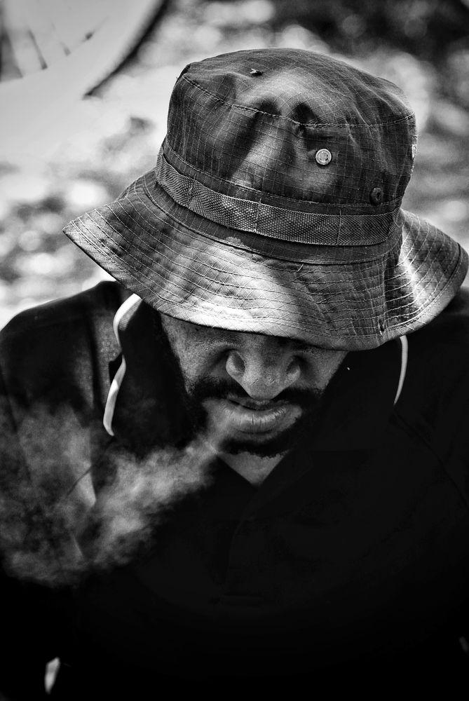 Photo in People #smoker #blackandwhite #random #canon70-200mm #canonphoto