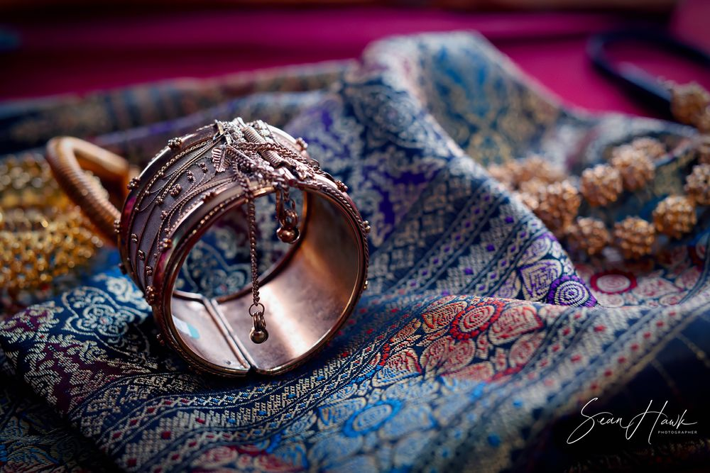 Photo in Still Life #bracelets #gold #bronze #fabric #patterns #vintage finish #bokeh