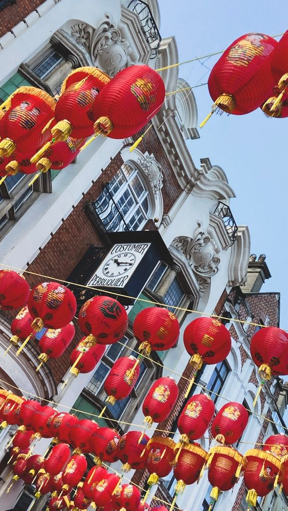 Photo in Cityscape #london #soho #lanterns #street #outdoor #building #vertical #photography #chinese new year #chinatown