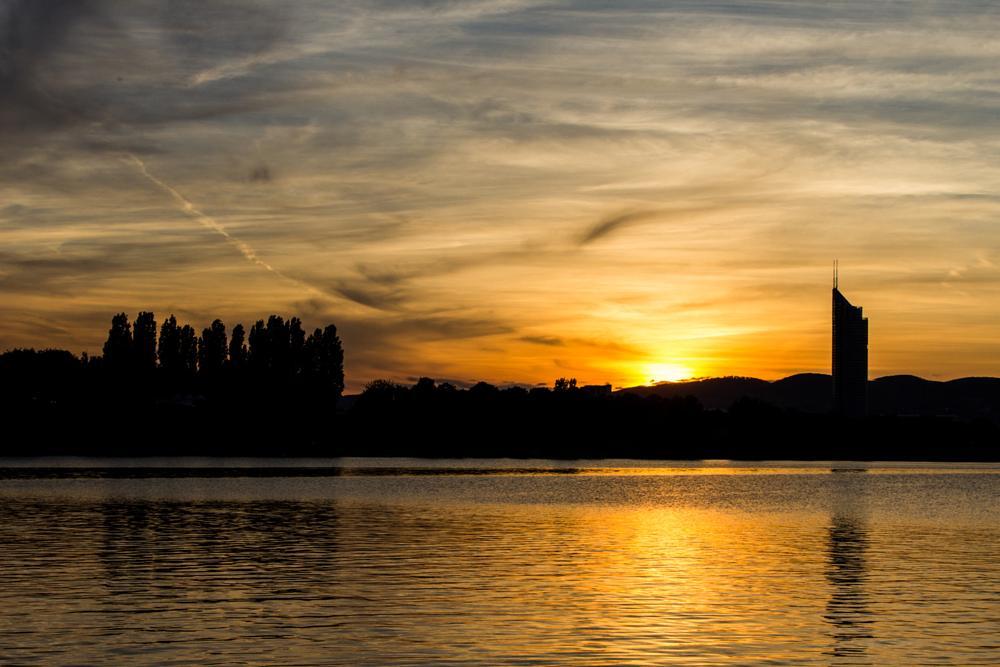 Photo in Landscape #danube #austria #autriche #vienna #viena #vienne #sunset