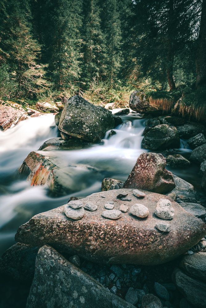 Photo in Landscape #stones #river #long exposure #nature #trees