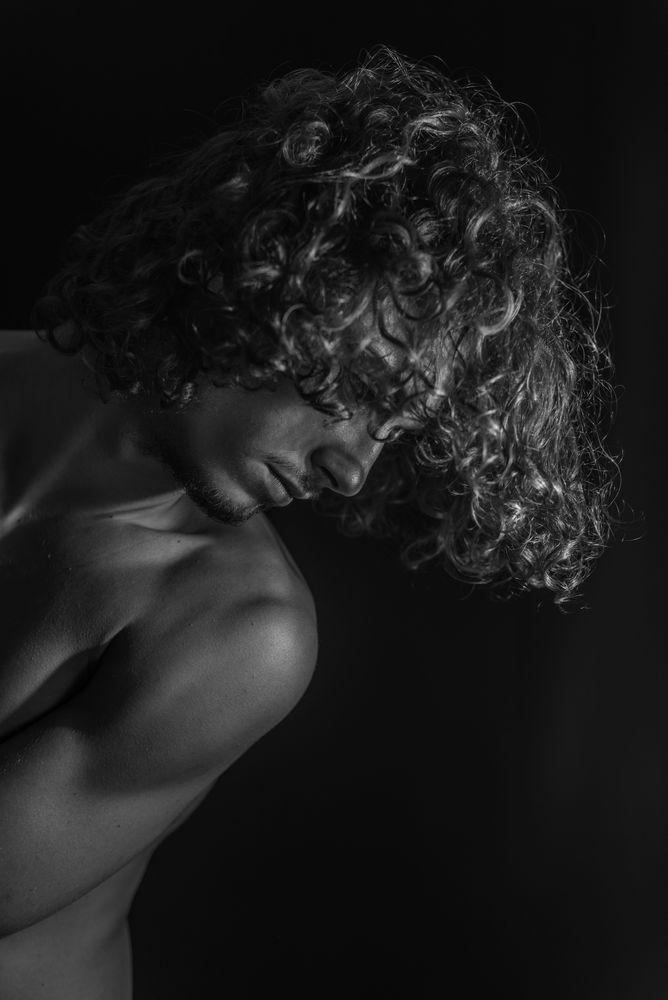 Photo in Random with model Alberto Albanese #portrait #blackandwhite #human #body #skin #man #male #boy #malemodel