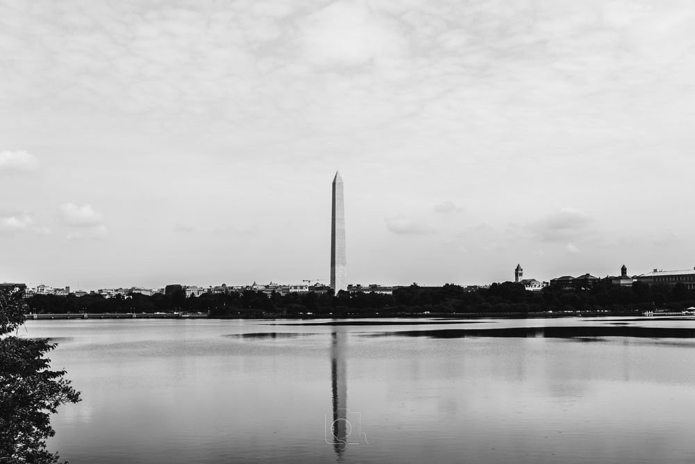 Photo in Black and White #usa #virginia #washington dc #architecture #buildings #holiday #monuments #sightseeing #washington monument #dc #structure #reflection #waterscape #black and white