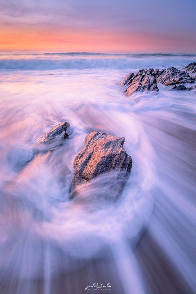 Photo in Landscape #sea #rocks #sunset #seascape